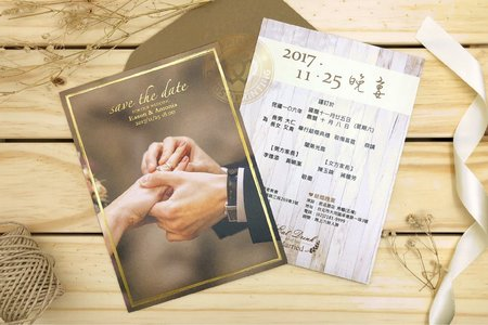 M7617《美式明信片婚卡(燙金版)》