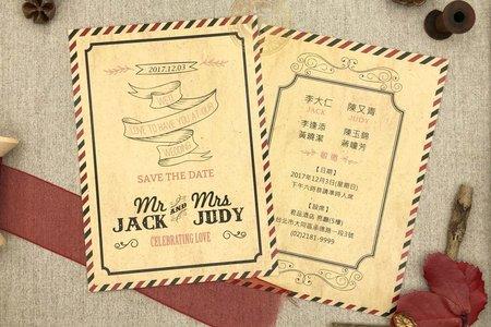 M4608《美式明信片婚卡(彩印版)》