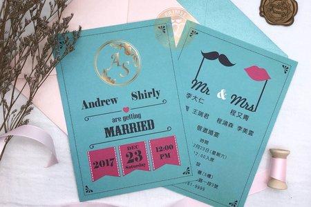 M4613《美式明信片婚卡(彩印版)》