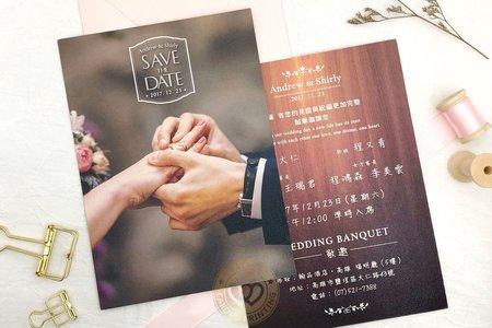 M4619《婚禮派對》美式明信片婚卡(彩印版)