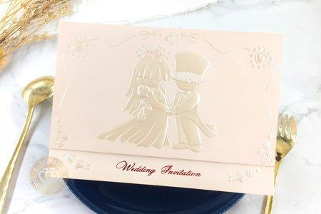 709607《童夢奇緣》立體浮雕婚卡(粉)