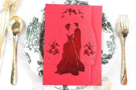 758723R《立體浮雕婚卡》