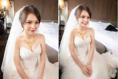 新娘造型 俐落高盤髮髮型風格
