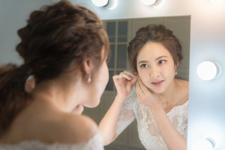 新娘造型 日式編髮低馬尾髮型