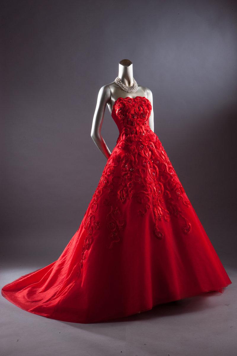 圖騰紅色蓬裙