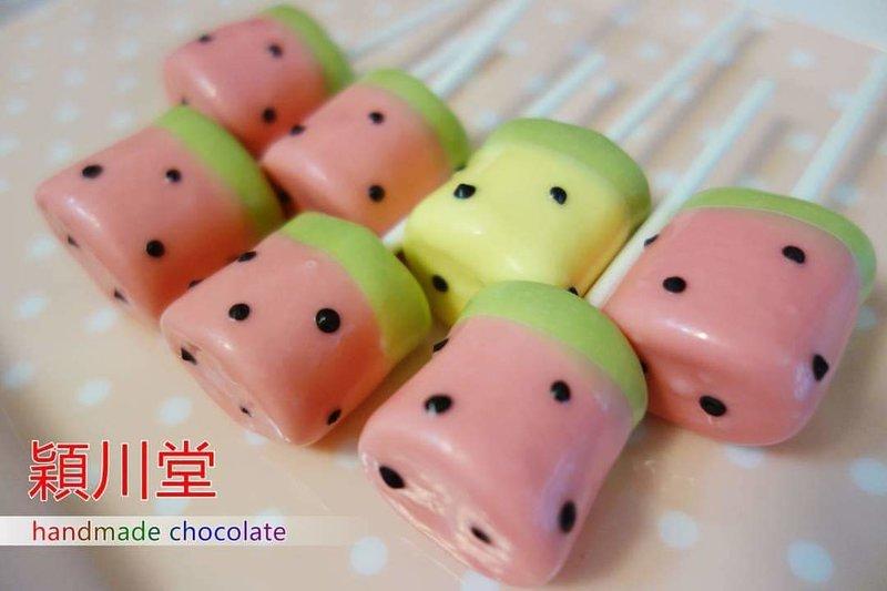 【創意系列】西瓜夫妻 巧克力棉花糖💕作品