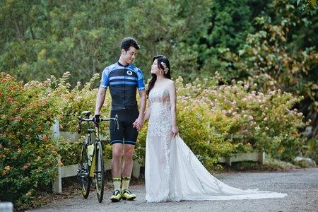 艾瑪婚紗 晨間食光 落羽松 毛小孩 自行車