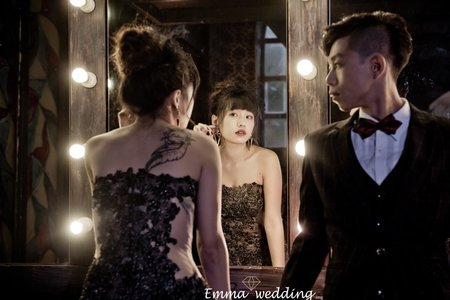 艾瑪婚紗 台中婚紗 個性暗黑色系婚紗 童話故事風