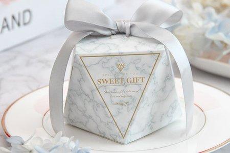 大理石鑽石喜糖盒 新款上市