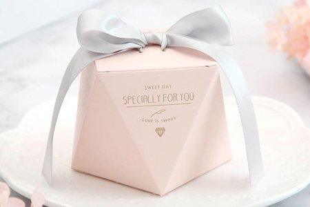 红粉燙金鑽石喜糖盒 新款上市