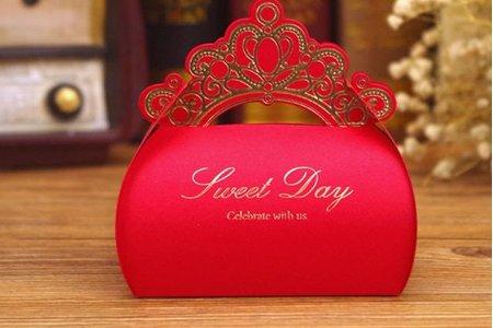 新款甜蜜結婚日喜糖盒 結婚用品 喜糖盒