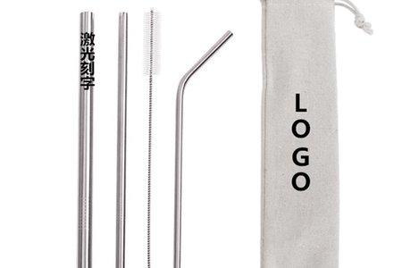 304不銹鋼吸管刻字套裝客制LOGO