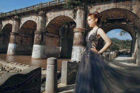 莫藍迪色系古典婚紗