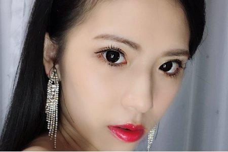 名媛風明星感油頭時尚風新娘造型