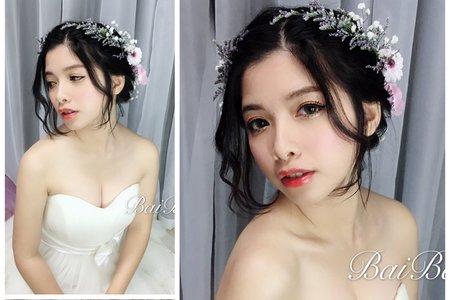 戶外婚禮x新娘鮮花造型
