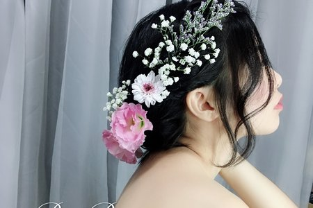 戶外婚禮鮮花新娘造型