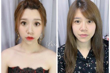 +韓系低馬尾x婚紗造型+