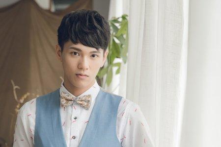精緻韓系男士妝髮、新郎妝髮