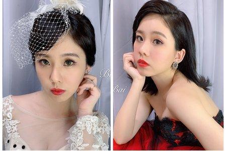台中新秘白白+短髮新娘造型x油頭時尚風x歐風復古+結婚造型/新娘秘書/新秘推薦/