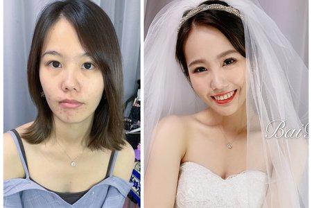 台中新秘白白+戶外婚禮小歐風婚紗造型+結婚造型/新娘秘書/新秘推薦/