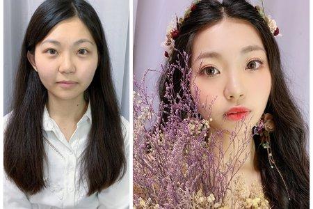 台中新秘白白+森林系戶外婚禮造型+結婚造型/新娘秘書/新秘推薦/