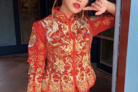 台中新秘白白x中西合併風格(中式婚紗X秀禾服妝髮)+結婚造型/新娘秘書/新秘推薦/