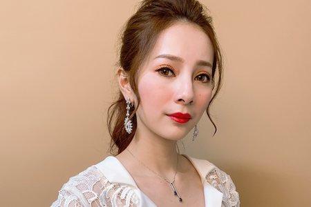 台中新秘白白+自助婚紗x黛咪+結婚造型/新娘秘書/新秘推薦/