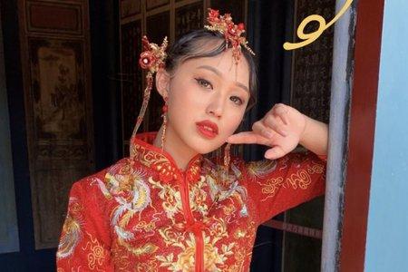 台中新秘白白x中式婚紗秀禾服+結婚造型/新娘秘書/新秘推薦/