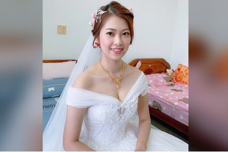 台中新秘白白/湘寧婚禮造型/不凋花/迪士尼公主造型/結婚造型/新娘秘書/新秘推薦/婚紗造型