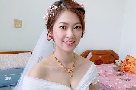 浪漫新娘造型x湘寧/迪士尼貝兒公主造型/結婚造型/新娘秘書/新秘推薦/婚紗造型