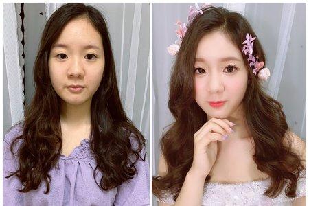 清新浪漫韓系新娘造型x黎恩/森林系新娘/韓系低盤髮/韓系低馬尾
