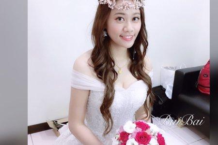 +森林系風格婚禮造型x芳瑩+