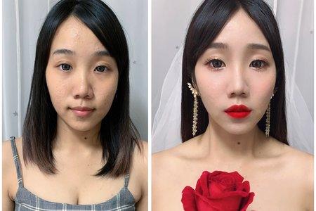 簡約氣質黑髮新娘/婚紗造型/戶外婚禮/結婚造型/新娘秘書/新秘推薦/