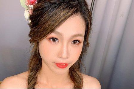 台北新秘莎莎-浪漫編髮搭配乾燥花造型