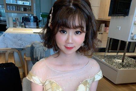韓系甜美短髮新娘造型