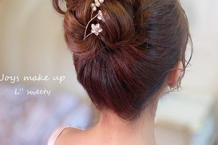 新娘造型-高盤花苞頭