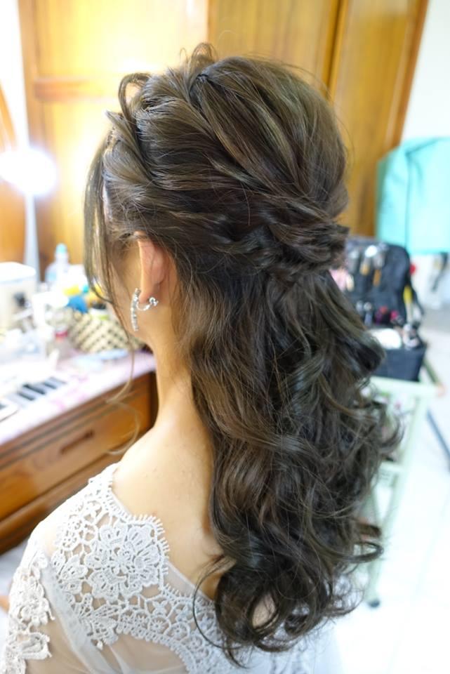 浪漫放髮造型