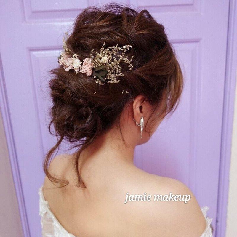 森女風盤髮造型