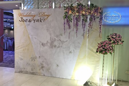 公版背版婚禮佈置~升級為鮮花版