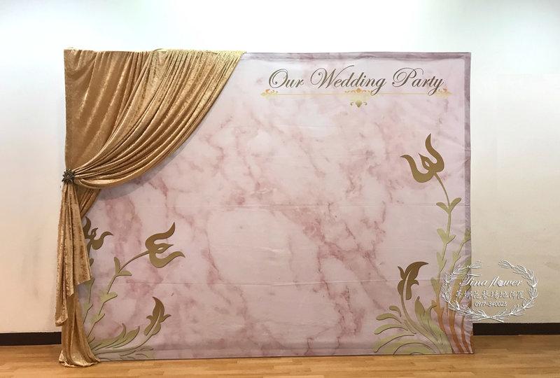 $8800專人婚禮佈置收場(現代大理石)作品