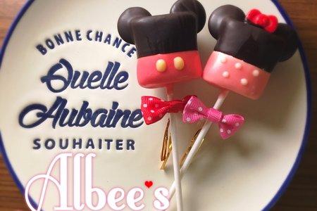 3D大耳朵 米奇 米妮 造型巧克力棉花糖