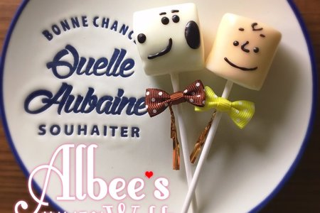 史努比 查理布朗 造型巧克力棉花糖