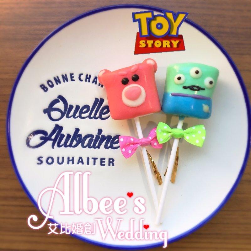 玩具總動員 巧克力棉花糖作品