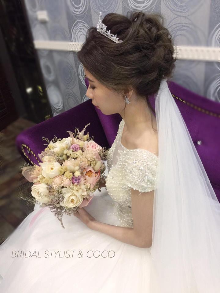 可可新娘精緻整體造型。宴會新娘秘書作品