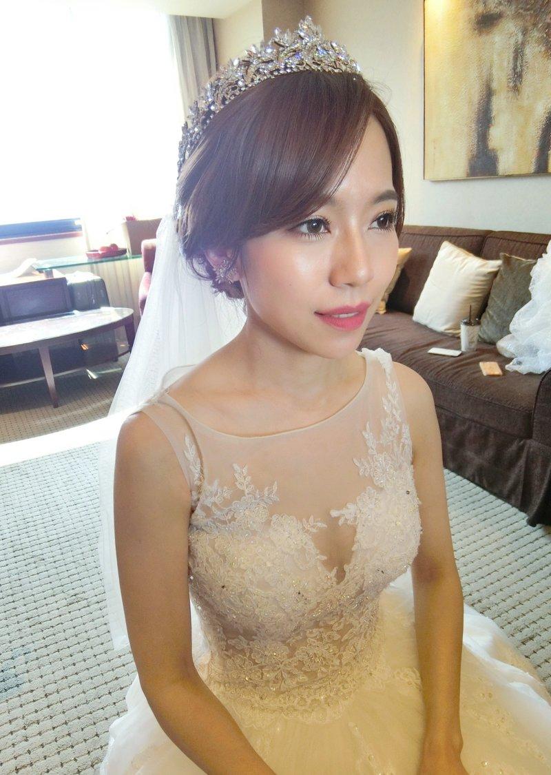 可可新娘精緻整體造型。訂婚結婚新秘作品