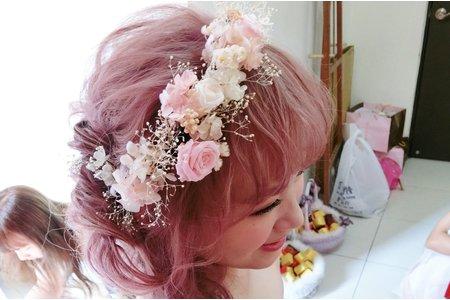 《Eline's造型梳妝》夢幻粉紅髮色