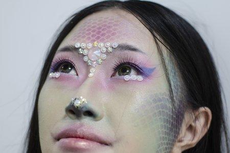 181101 造型實驗 人魚創作妝容