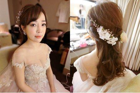 台北新秘服務。溱溱公主.女神婚禮造型