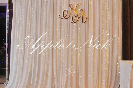 WEDDING | APPLE+NICK 2018.08.05
