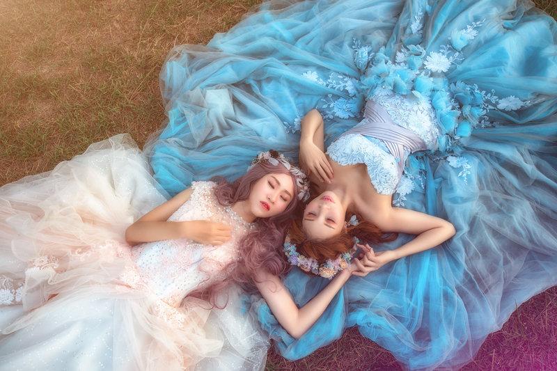 慶祝同性婚姻合法  婚紗方案作品